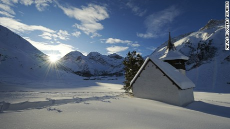 It's the final stop of the Sertig Classic Davos, but the picture-perfect chapel is open to visitors too.
