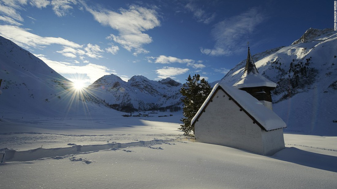 <strong>Pray for world peace at the Sertig Valley chapel: </strong>Built in 1699, the tiny, picture-perfect chapel in the village of Sertig near Davos is still open for weddings and prayer.