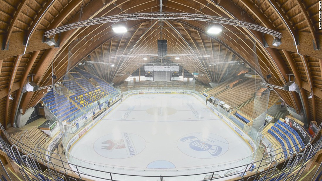 <strong>Play politics -- or hockey -- at Davos Sports Center: </strong>The Sports Center features an an open-air ice rink and the Vaillant Arena (pictured), one of the world's most stunning ice hockey stadiums. <br />