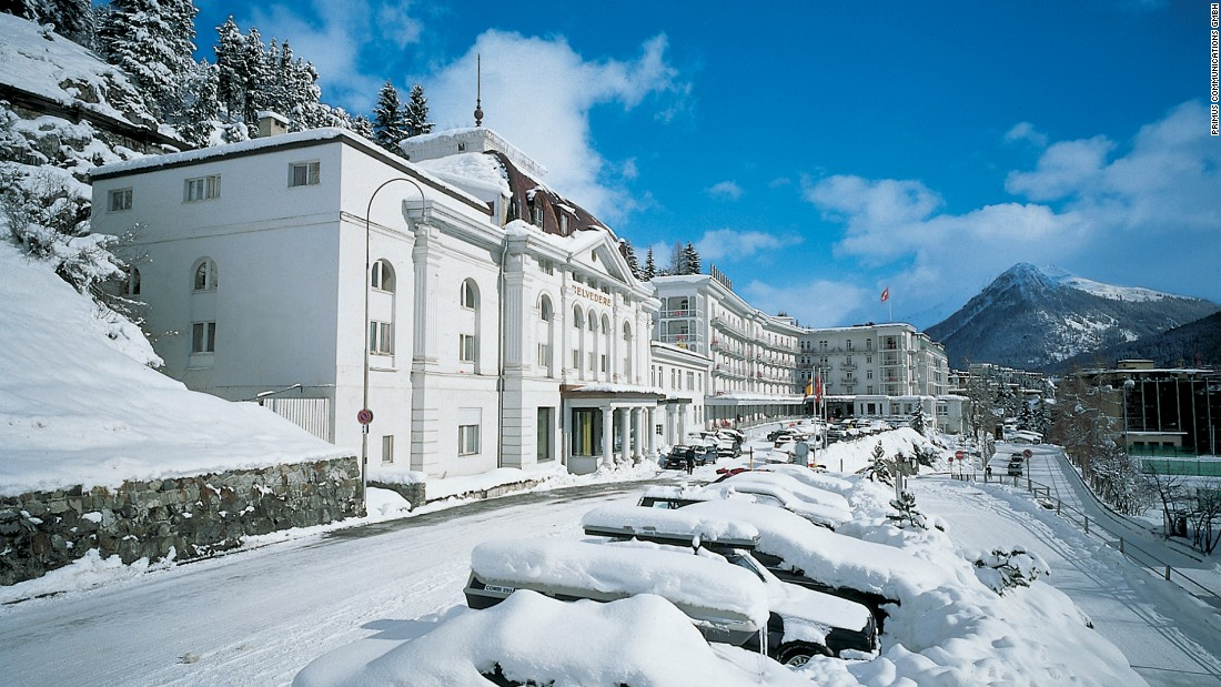 <strong>Stay at Davos' most star-studded hotel: </strong>The luxury Steigenberger Grand Hotel Belvédère has been the hotel of choice for many world leaders and stars including Bill Clinton, Prince Albert of Monaco, Brad Pitt and Angelina Jolie.