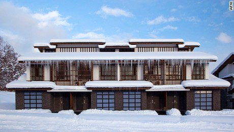 Afini's Niseko property, Nimachiya, is a three-bedroom ski-in and out villa.
