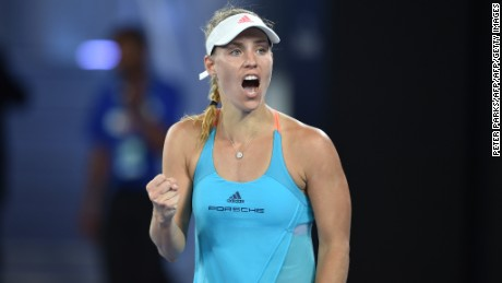 Angelique Kerber, the female No. 1, also struggled against Ukrainian opposition. She eventually beat Lesia Tsurenko 6-2, 5-7, 6-2.