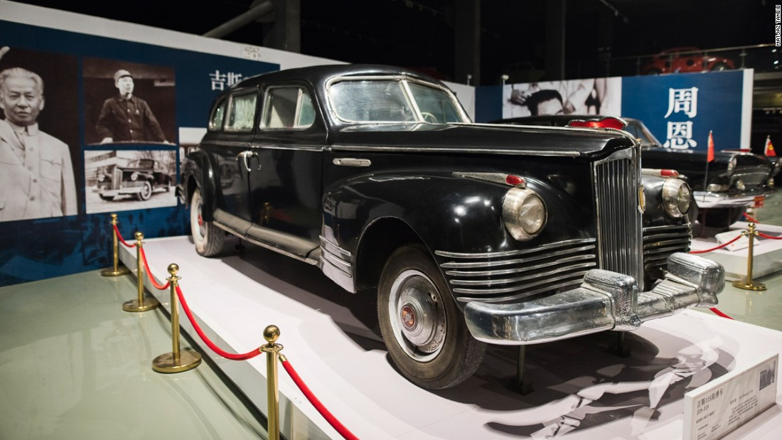 This 1945 ZiS was used by Liu Shaoqi, who was President of China from 1958 to 1968, but fell out of favor with Mao during the Cultural Revolution. His car was attacked by Red Guards.<br />