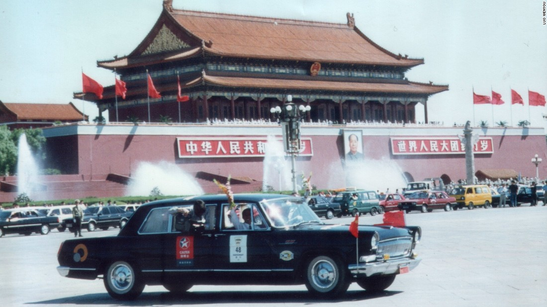 Luo Wenyou is a Chinese collector who's car collection includes several of China's most important automobiles. This image shows the 1998 Louis Vuitton Classic China Run rally, which began in the Chinese city of Dalian and ended in Beijing.