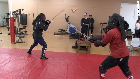 Ancient swordfighting techniques used to battle human trafficking