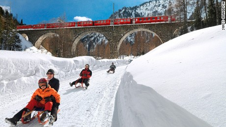 "UNESCO says the Rhaetian Railway ""constitutes an outstanding technical, architectural and environmental ensemble."""