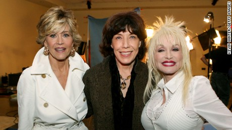 Jane Fonda, Lily Tomlin and Dolly Parton, from left to right, will reunite at the SAG Awards January 29, 2017.
