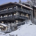 Top ski Chalet Edelweiss at dusk