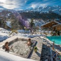Top ski chalet MontTremblant Pool and Jacuzzi view