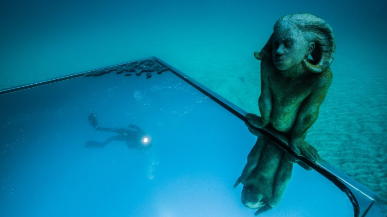 Ghostly figures seen only from the ocean floor
