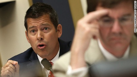 WASHINGTON, DC - JULY 15: U.S. Rep. Sean Duffy (L) (R-WI) questions Federal Reserve Board Chairwoman Janet Yellen before the House Financial Services Committee July 15, 2015 in Washington, DC. Yellen told the committee that the Fed is still set to raise short-term interest rates this year due to an improving domestic economy and despite a host of global threats, according to published reports.