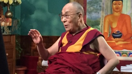 The Dalai Lama talks with CNN's Senior Medical correspondent, Dr. Sanjay Gupta