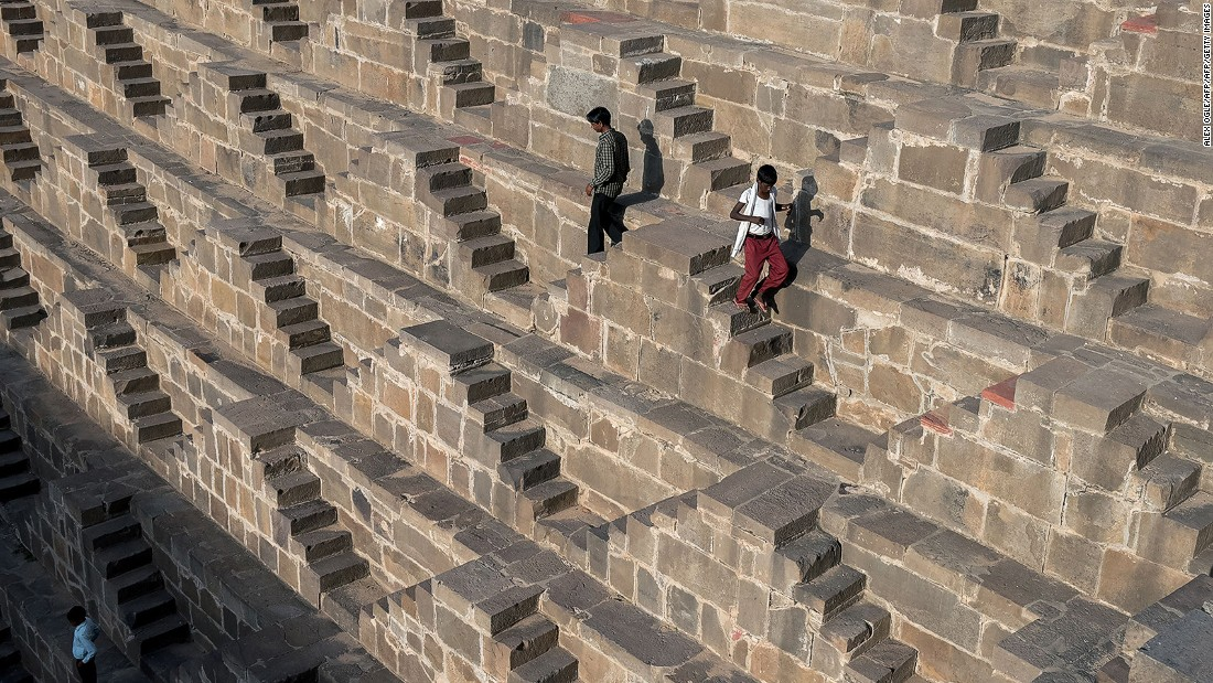 <strong>Chand Baori, Abhaneri, Rajasthan: </strong>With 3,500 steps in perfect geometric design, Chand Baori is one of the most beautiful stepwells in India. The 1,200-year-old site is open to local residents for a few hours every day.