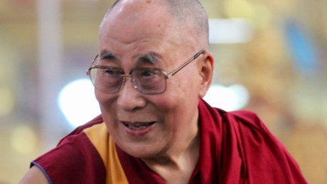 The Dalai Lama takes in the crowd at the Emory-Tibet symposium of Scholars and Scientists held at the Drepung Monastic University in December.