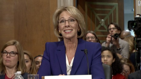 Betsy DeVos clears another hurdle in early morning Senate vote