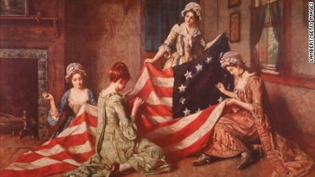 "Henry Mosler's ""The Birth of the Flag."""
