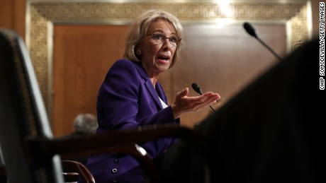 Betsy DeVos lobbying senators ahead of tight confirmation vote