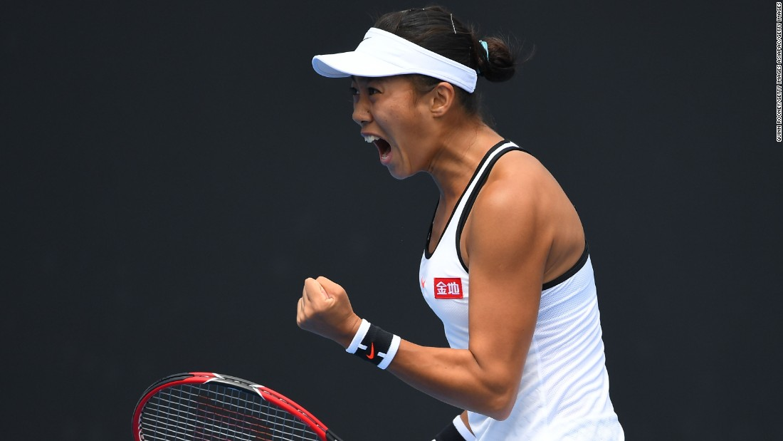 Zhang won the hearts of the Melbourne crowd last year when she snapped a 14 and 0 record in grand slams, shedding tears of joy and relief after beating 2014 French Open finalist Simona Halep in the first round. She eventually made the quarterfinals.
