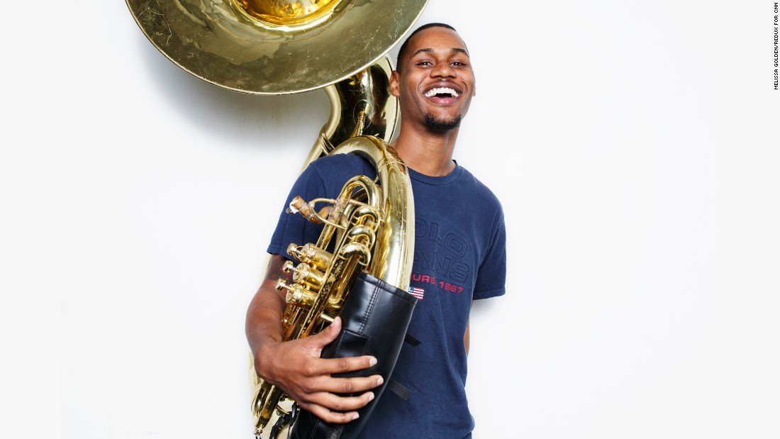 """We all feel like... America loves us. We're America's band right now,"" says Alex Liddell Jr., a senior at Talladega College in Alabama. He plays sousaphone in the school's marching band, which is set to perform in the parade at Donald Trump's inauguration."