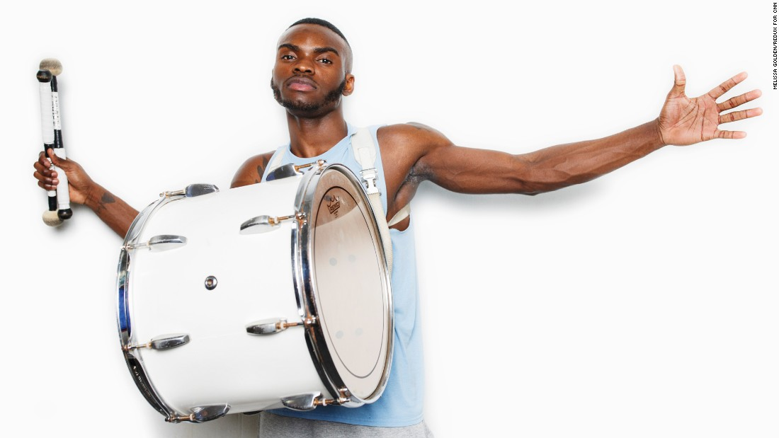 """I'm ready to play my drums and perform with the rest of my brothers."" -- Elijah Oshibanjo (junior, tenor drum)"