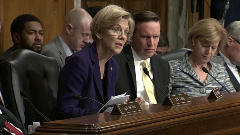 Elizabeth Warren challenges Trump's pick for U.S. Education Secretary ORIG TC_00004320