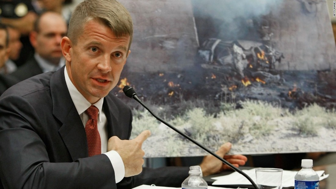 Erik Prince testifying on Capitol Hill