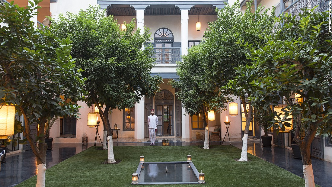 <strong>Riad de Tarabel (Marrakech):</strong> The elegant Riad de Tarabel is a boutique hotel inside a French colonial-style mansion.
