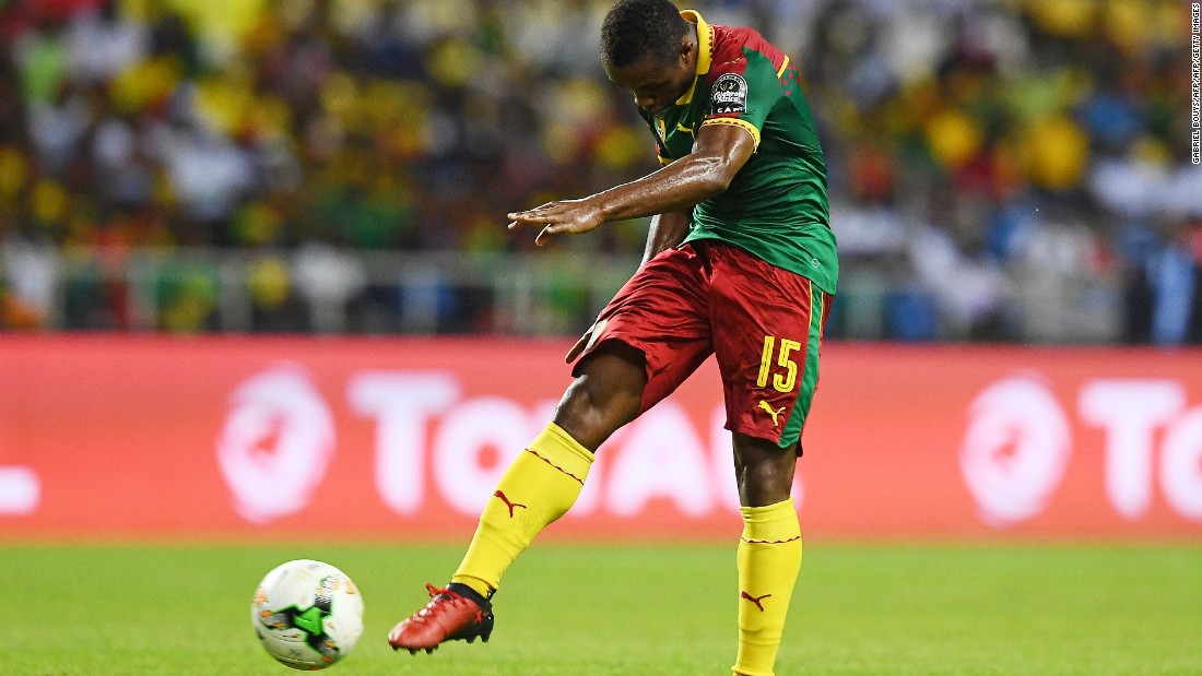 It was some way to notch your first ever international goal, but the Cameroon players weren't in any mood to be beaten, with midfielder Sebastien Siani kickstarting the comeback with a strike from 20 yards.