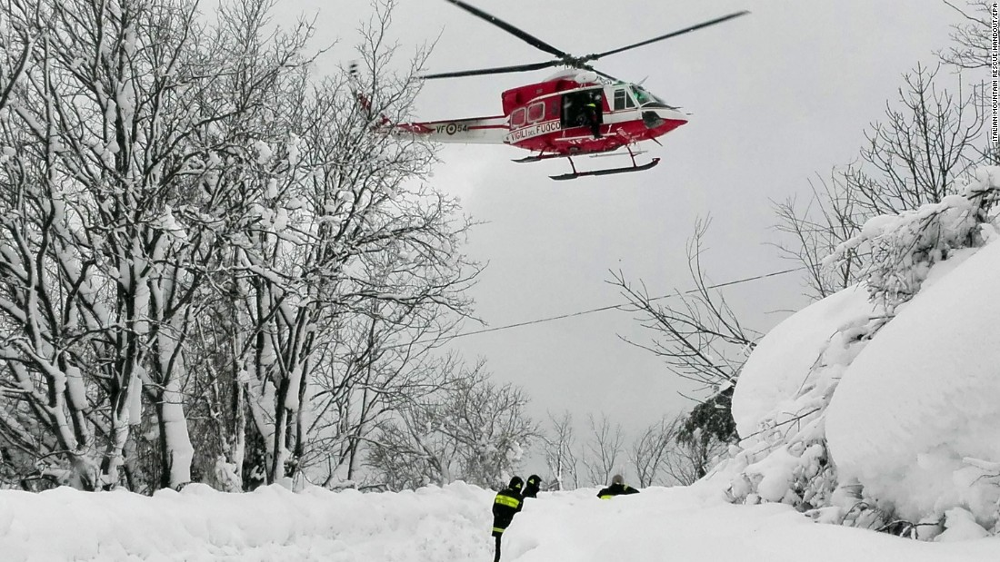 Italy avalanche: All known survivors pulled from rubble