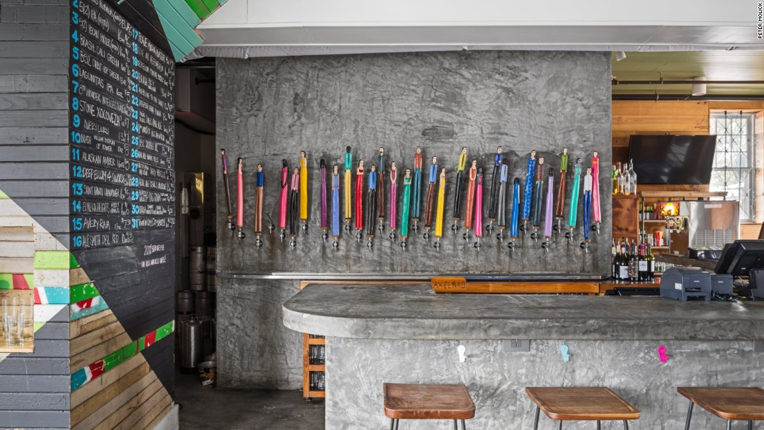 <strong>Axelrad</strong> -- Axelrad specializes in local and regional craft beers poured via colorful tap handles created by a Venezuelan artist.