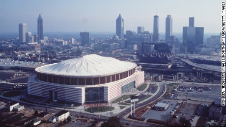 NOV 1992:  THE GEORGIA DOME IN THE CITY OF ATLANTA, GEORGIA, SITE OF THE 1996 SUMMER OLYMPIC GAMES. Mandatory Credit: Ken Levine/ALLSPORT