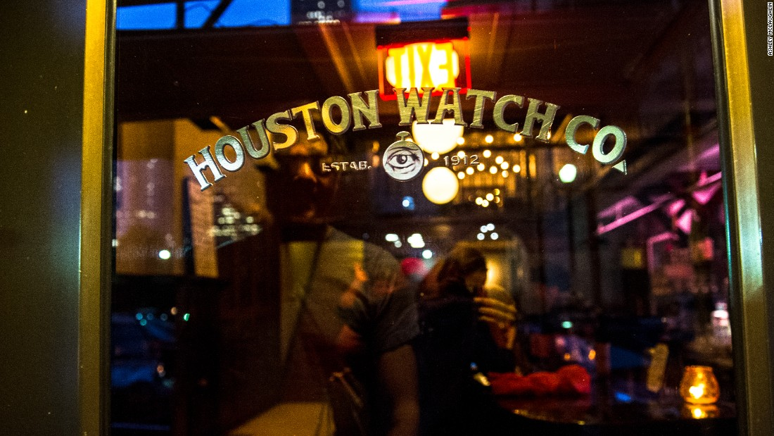 <strong>Houston Watch Co.</strong> -- Graced with an effortless speak-easy vibe, the door of this two-level craft cocktail lounge is easy to blithely blow past. Don't.