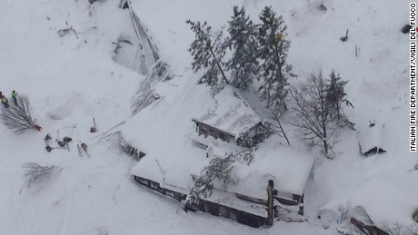 Avalanche buried a hotel in central Italy earlier today.