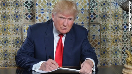 Donald Trump inaugural speech writing photo