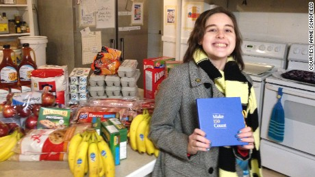 Becca dropping off $300 of breakfast items to The Humanity Project(a local charity that provides food and shelter to our city's young, seniors, homeless, and working poor). Becca was chosen to take part in RBC's Make150Count Project-a project in conjunction with Canada's 150th Birthday. The RBC Bank provides $150 to local youth in each community to do something nice within the community. Becca spent the RBC's $150 on assorted breakfast items, then matched it with $150 of her own money which she spent only on bacon(Becca REALLY likes bacon)