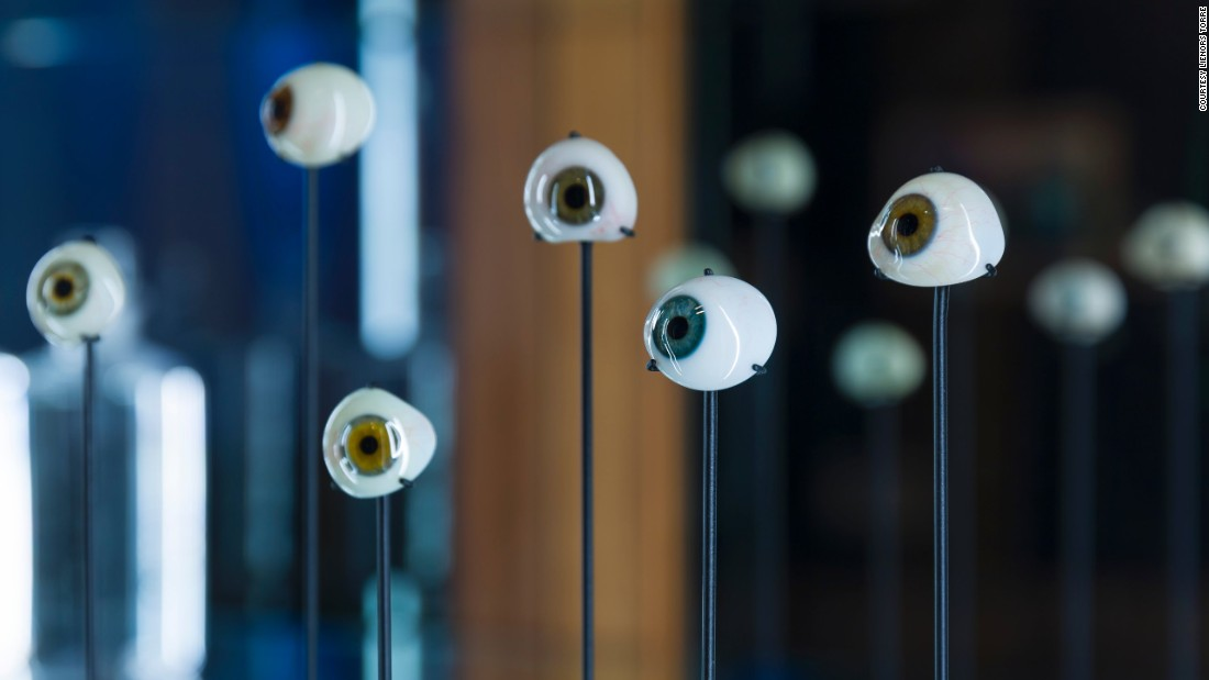 Australian artist Lienors Torre often creates works using glass. Her series, on display at the RMIT gallery, features antique glass eyes as well as cast and blown glass.