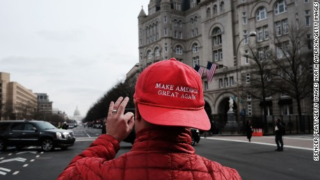 WASHINGTON, DC - JANUARY 19:  A Donald Trump supporter takes a picture of the U.S. Captial building on January 19, 2017 in Washington, DC. Washington and the entire nation are preparing for the transfer of the United States presidency as Trump is sworn is as the 45th president on January 20.  (Photo by Spencer Platt/Getty Images)