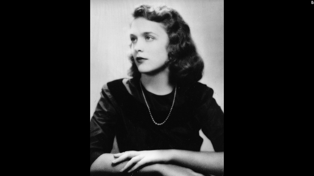 The future first lady poses for a graduation photo in 1943. She graduated from Ashley Hall, a boarding school in Charleston, South Carolina.