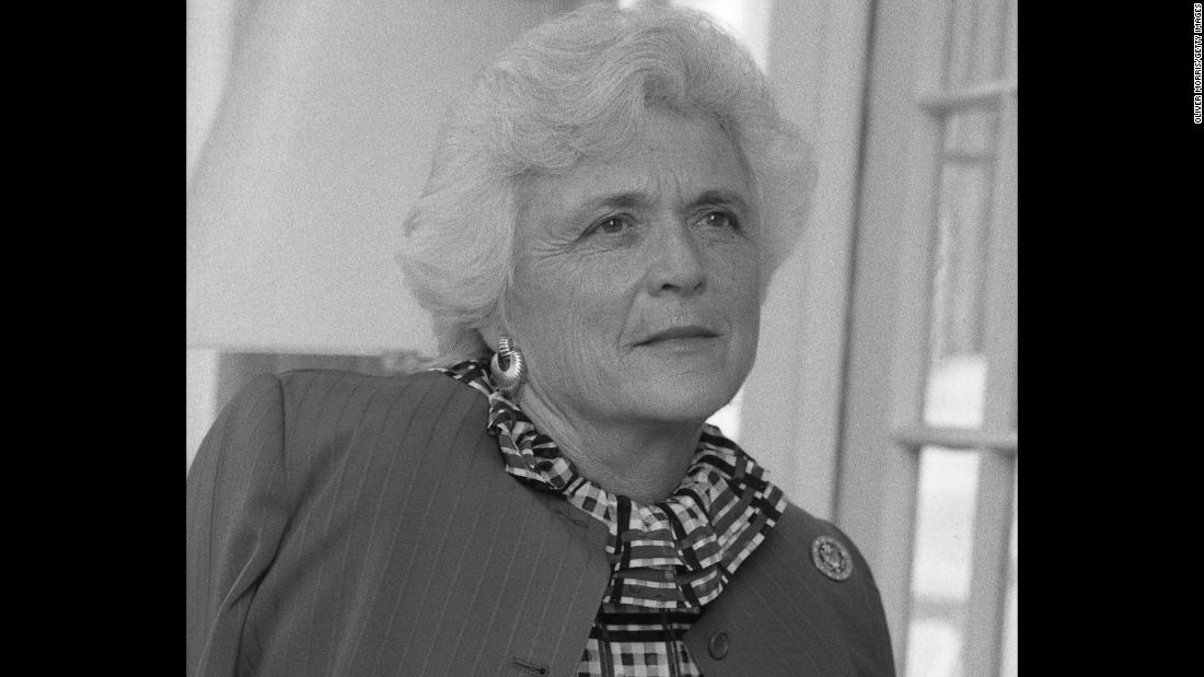 A portrait of Bush at the vice presidential residence in Washington on April 24. 1981. Her husband was sworn in as vice president of the United States in 1981.