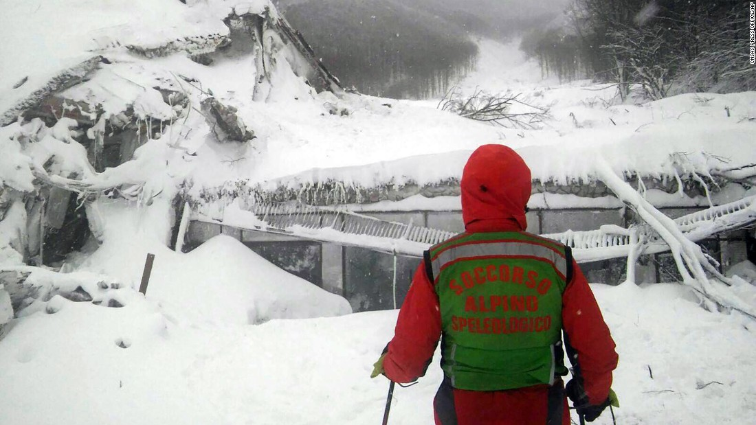 Rescue workers were met with an eerie silence Thursday when they reached a four-star spa hotel struck by an avalanche.
