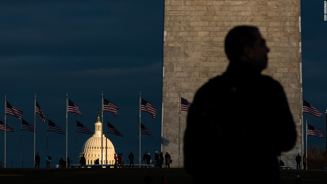 Sunlight illuminates the Capitol building in Washington on Wednesday, January 18, as preparations continued two days before the inauguration of incoming US President Donald Trump.