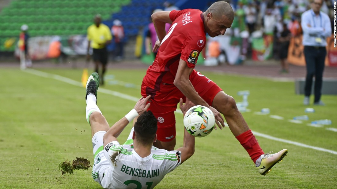 Rami Bensebaini's own goal gave Tunisia the lead early in the second half. Despite Sofiane Hanni pulling a goal back for Algeria in stoppage time, the Fennec Foxes are on the verge of an early exit from AFCON 2017.
