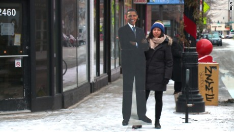 President Obama cutout