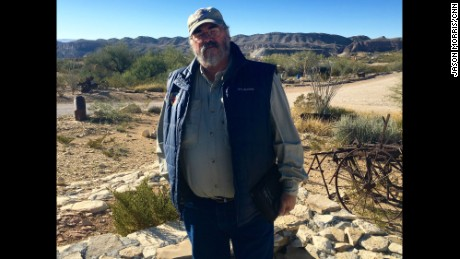 Marcos Paredes lives near Terlingua, Texas, and spent years as a law enforcement officer patrolling the Rio Grande.