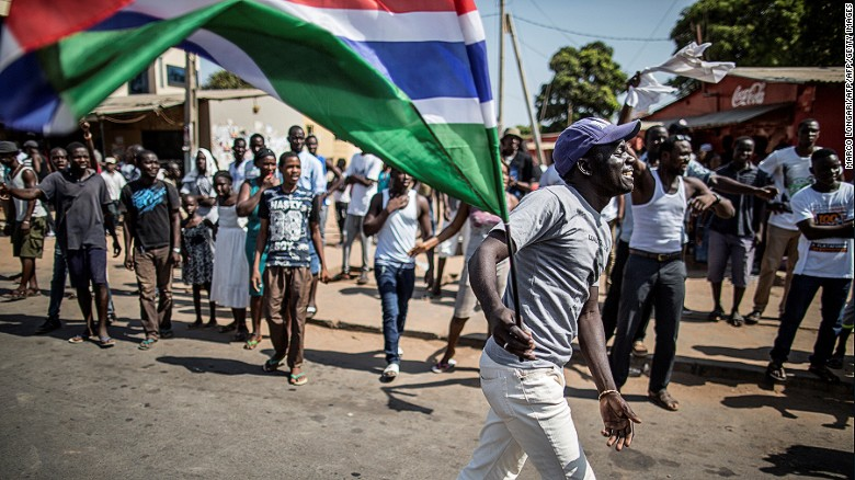 Why is there political turmoil in Gambia?