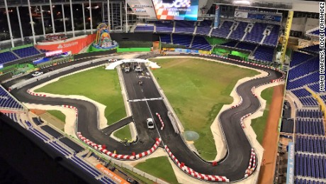 Miami Marlins track completed