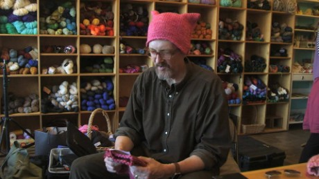 Each knitter was encouraged to write a special message to the marcher who receives the hat.