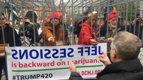 DCMJ is handing out 4,200 joints on Dupont Circle but reminds people it's illegal to light up on the National Mall.