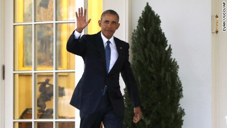 President Barack Obama waves as he leaves the Oval Office of the White House in Washington, Friday, Jan. 20, 2017, before the start of presidential inaugural festivities for the incoming 45th President of the United States Donald Trump. (AP Photo/Evan Vucci)