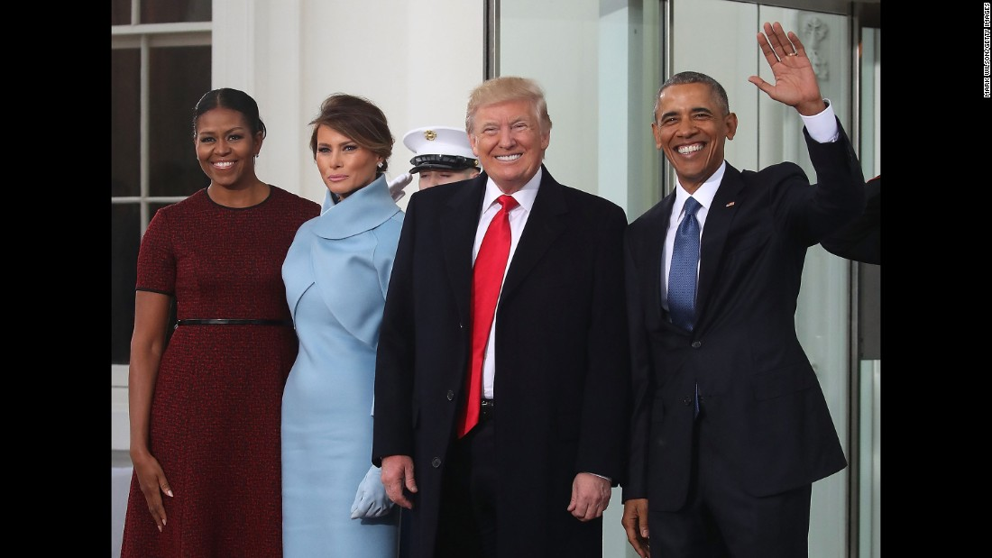 "The Obamas welcome the Trumps to the White House as they arrive for <a href=""http://www.cnn.com/2017/01/17/politics/donald-trump-inauguration-how-to-watch/index.html"">inauguration festivities</a>."